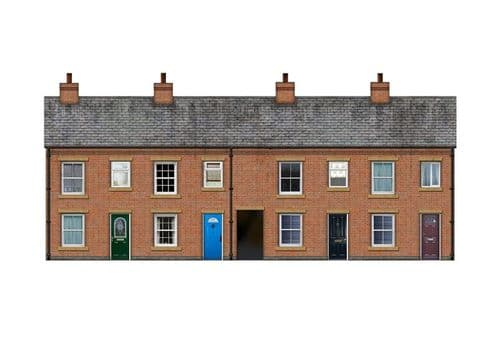 BX003-OO Terraced Houses Backscene Elements OO/4mm/1:76