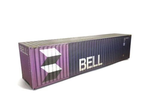 CT003-OO Bell 40ft Weathered Container Card Kit (Pack of 2) - OO/4mm/1:76