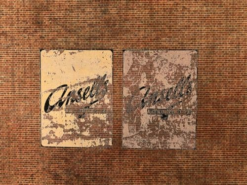 DC028-OO Ansell's Beer Ghost Sign - Self Adhesive Transfer (Pack of 2) - OO/4mm/1:76