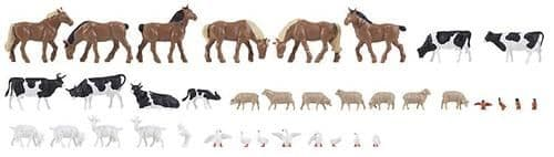 Faller 150938 Farm Animals Set  (Pack of 36)