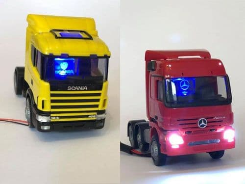 Herpa Scania & Mercedes Truck Twin Pack With Lights 1:87