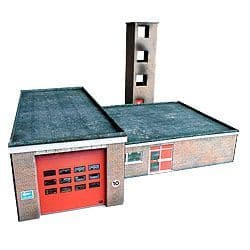 KX011-OO Small Town / Village Fire Station Kit - OO/HO 1:76 Scale