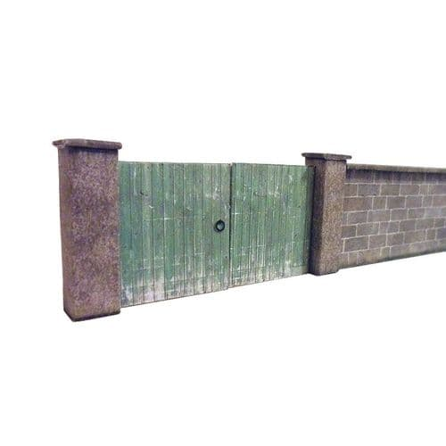 KX021-OO 6ft Dressed Stone Wall & Gates OO/4mm/1:76