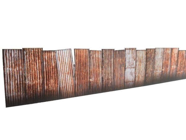 KX022-OO 9ft Corrugated Iron Trackside Fencing Kit OO/4mm/1:76