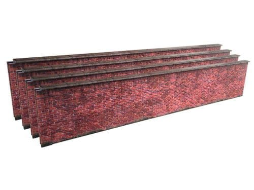 KX039-O 7ft Red Brick Wall O/7mm/1:43