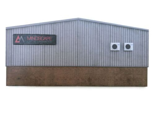 KX061-OO Low Relief Modern Industrial Unit Rear Wall - OO / 4mm / 1:76