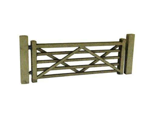 LX001-OO Laser Cut Five Bar Gates & Posts (Pack Of 3) OO/4mm/1:76