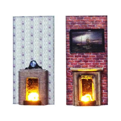 LX010-OO Laser Cut Fireplaces With Flickering LEDs OO/4mm/1:76