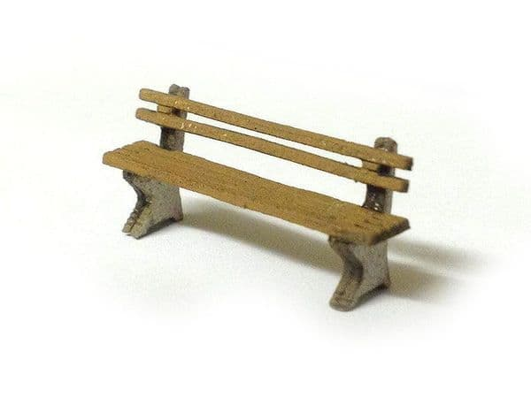 LX012-OO Laser Cut Wood & Concrete Benches (Pack of 8) OO/4mm/1:76