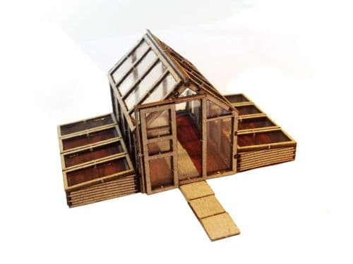 LX016-OO Laser Cut Greenhouse & Cold Frames OO/4mm/1:76