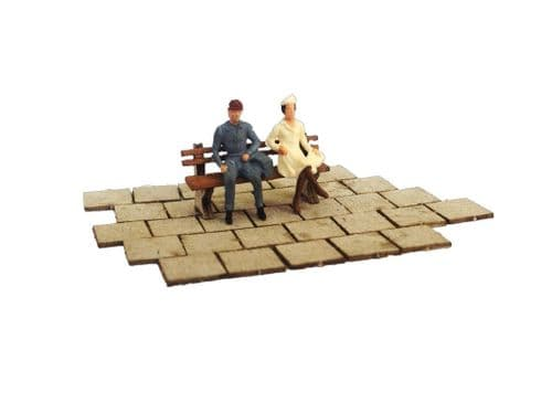 LX018-OO Laser Cut Paving Slabs (2ft x 2ft) OO/4mm/1:76