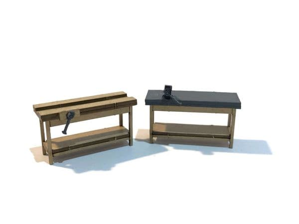 LX021-OO Workbenches (Pack of 4) - OO/4mm/1:76
