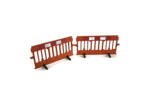 LX023-50 Laser Cut Roadworks Safety Barriers (Pack of 16) - 1:50