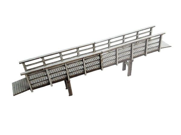 LX027-OO Laser Cut Small Footbridge Extension OO/4mm/1:76