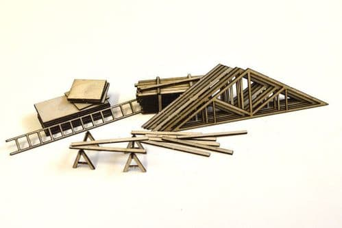 LX049-HO Timber Yard & Building Site Accessories HO/3.5mm/1:87