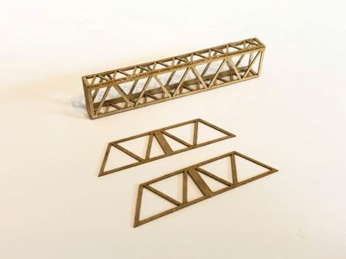 LX050-OO Laser Cut Lattice Girder OHLE Catenary Headspan Extensions (Pack E) OO/4mm/1:76