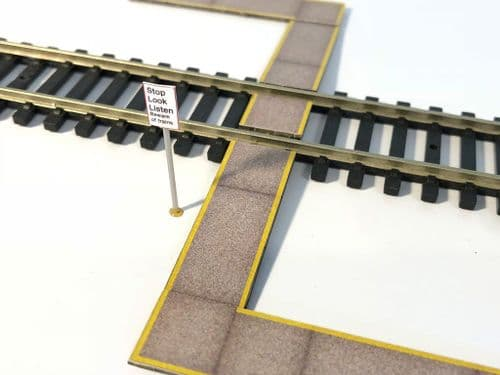 LX051-OO Foot Crossing/Pedestrian Level Crossing/Anti-Slip Walkway OO/4mm/1:76