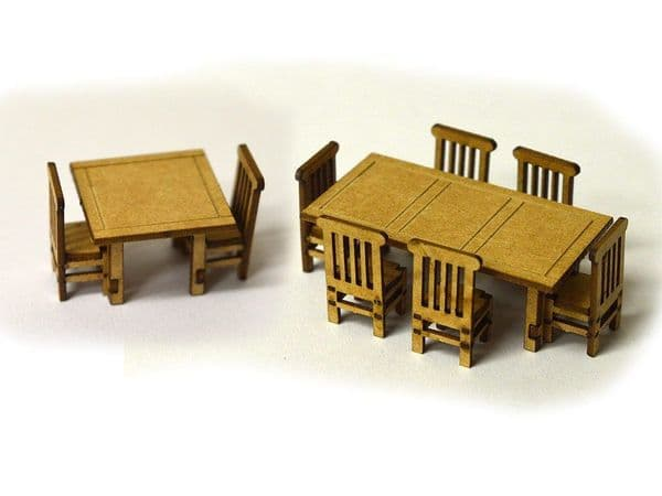 LX070-OO Laser Cut Tables & Chairs OO/4mm/1:76