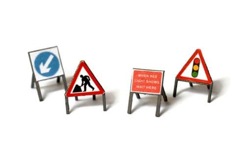 LX074-O Laser Cut Temporary Road Signs (Pack of 16) O / 7mm / 1:43