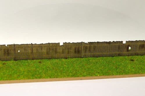 LX077-TT Laser Cut Old Wooden Fencing TT/3mm/1:100