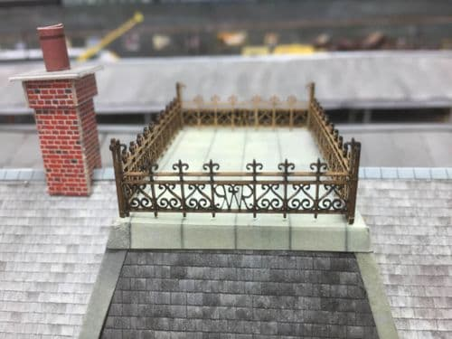 LX078-OO Laser Cut Decorative GWR Roof-Top Railings OO/4mm/1:76