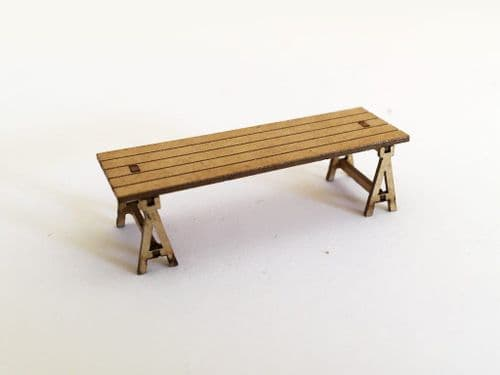 LX079-OO Wooden Trestle Tables (Pack of 10) OO/4mm/1:76