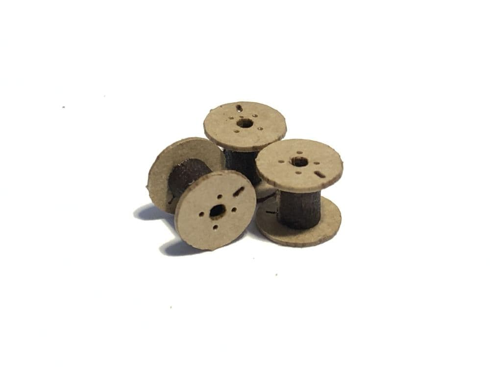 LX082-OO Small Cable Drums (Pack of 18) - OO/4mm/1:76