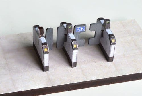 LX083-OO Automatic Ticket Barriers (Pack of 7) OO/4mm/1:76
