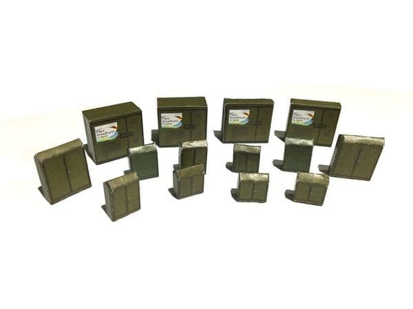 LX088-OO Roadside Equipment Cabinets (Pack of 14) OO/4mm/1:76