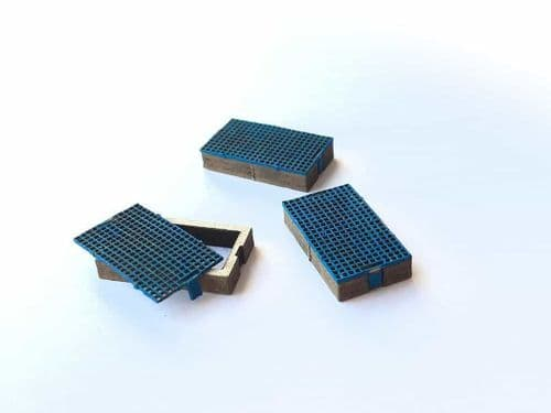 LX106-OO Laser Cut Drainage Catchpits (Pack of 9) OO/4mm/1:76