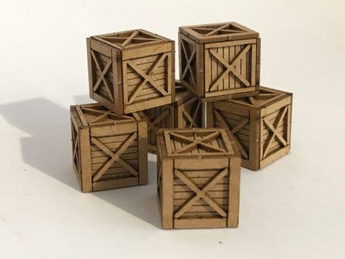 LX112-OO 3ft x 3ft Wooden Shipping Crate (Pack of 6) OO/4mm/1:76