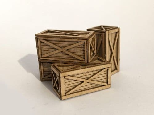LX113-OO 6ft x 3ft Wooden Shipping Crate (Pack of 4) OO/4mm/1:76