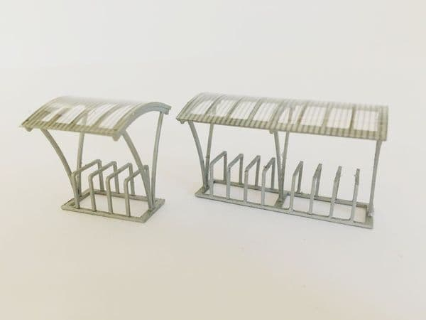 LX124-OO Modern Bicycle Shelters (Pack of 2) OO/4mm/1:76