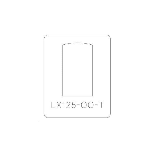 LX125-OO-T Arched Top Industrial Windows Cutting Template