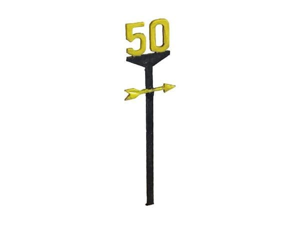 LX130-O Railway Speed Restriction Signs (Pack of 19) O/7mm/1:43