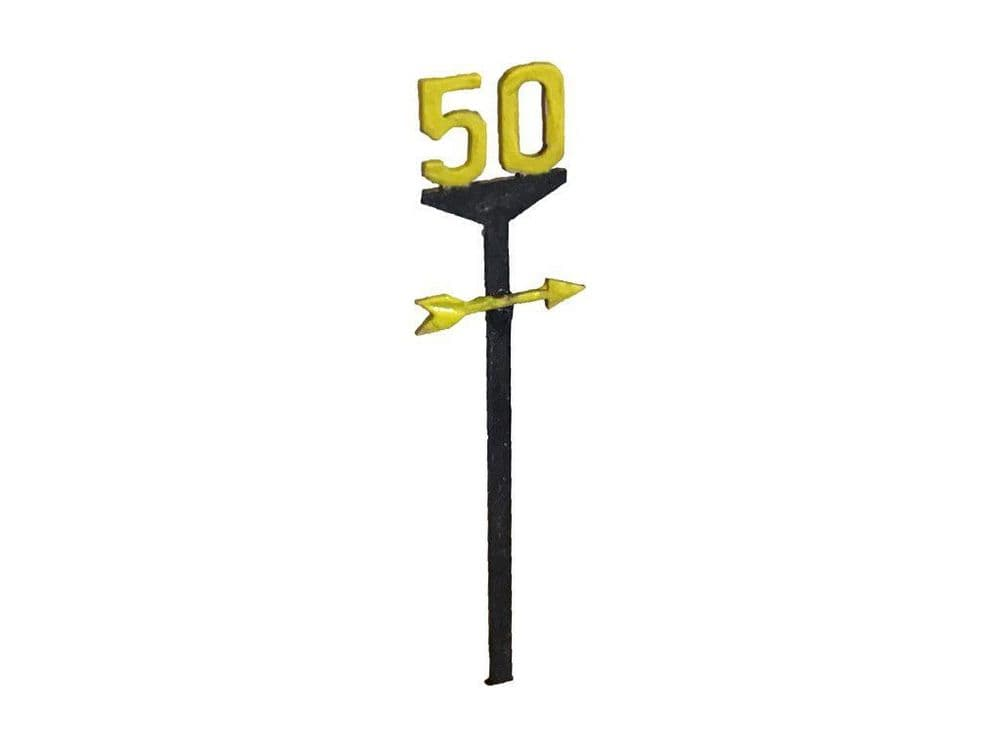 LX130-OO Railway Speed Restriction Signs (Pack of 25) OO/4mm/1:76