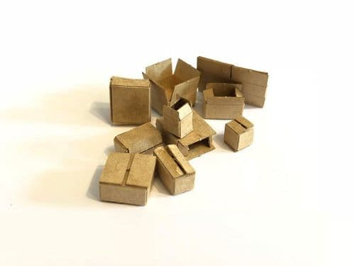 LX165-OO Laser Cut Miniature Cardboard Boxes (Pack of 35) OO/4mm/1:76