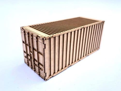 LX167-OO 20ft Shipping Container Kit (Pack of 2) OO/4mm/1:76