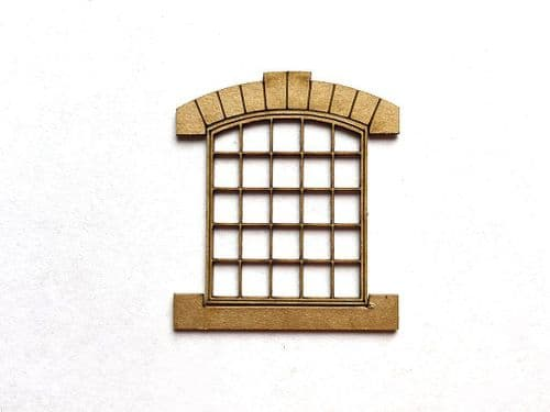 LX171-OO Arch-Top Industrial Windows With Headers & Sills OO/4mm/1:76