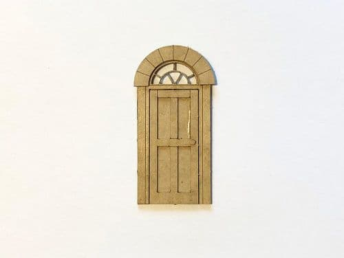 LX173-OO Four Panel Exterior Doors With Frames & Stone Headers OO/4mm/1:76