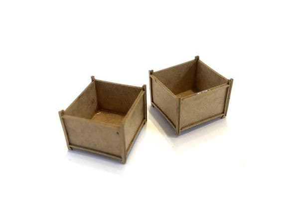 LX187-OO Solid Sided Stillages (Pack of 8) OO/4mm/1:76