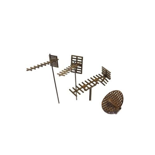 LX212-OO Television Aerials & Satellite Dishes  (Pack of 13) - OO/4mm/1:76
