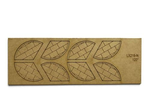 LX219-N Laser Cut 120 Degree Pavement Corners (Pack of 8) - N/2mm/1:148