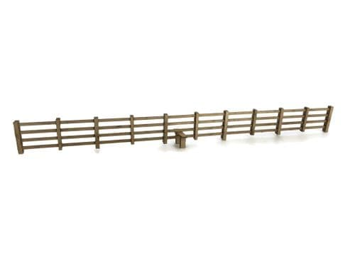 LX236-N Laser Cut 4ft Post & Rail Lineside Fencing N/2mm/1:148