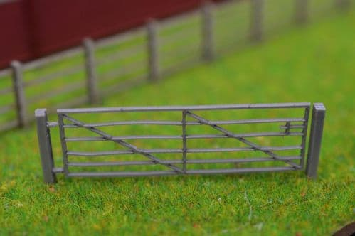 LX238-OO Laser Cut 15ft Galvanised Steel Field Gates (Pack of 5) - OO/4mm/1:76