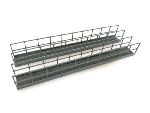 LX241-OO Laser Cut Industrial Walkways With Railings - OO/4mm/1:76