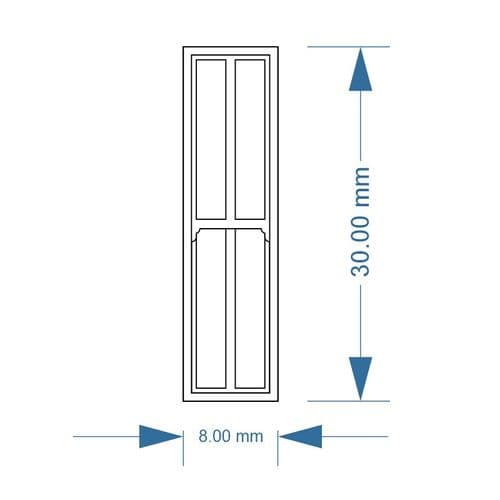 LX289-OO Narrow 4 Pane Sash Windows (Pack of 5) - OO/4mm/1:76
