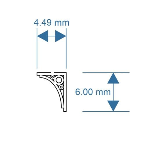 LX347-N Canopy Brackets Pack 3 N/2mm/1:148