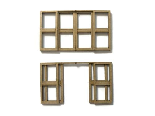 LX374-OO Automatic Double Doors - Set 1 (Pack of 2) - OO/4mm/1:76