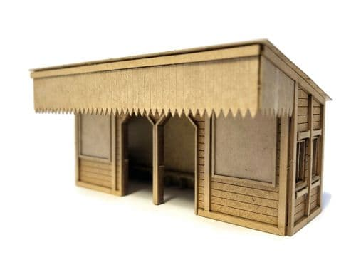 LX384-OO Laser Cut Wooden Platform Shelter - OO/4mm/1:76